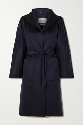Max Mara Lilia Belted Cashmere Coat - Navy