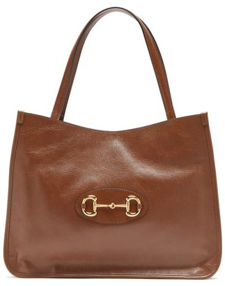 Gucci 1955 Horsebit Leather Tote Bag - Brown