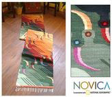 Novica Peruvian 'Toucan Tango' Wool Rug (2' x 10')