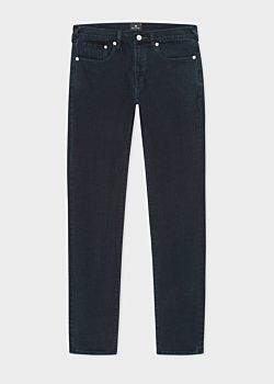Men's Slim-Standard 'Crosshatch Stretch' Navy Over-Dyed Jeans