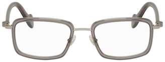 Moncler Silver and Grey ML 5026 Glasses