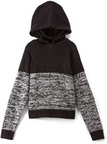 English Laundry Black & Gray Color Block Pullover Hoodie - Boys