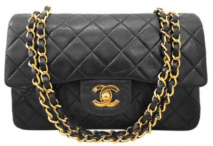 Chanel very good (VG Quilted Lambskin Classic Medium Double Flap Shoulder Bag