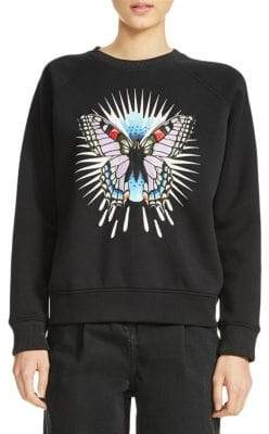 Maje Butterfly Graphic Sweatshirt