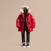 Burberry Down-filled Hooded Coat with Detachable Fox Fur Trim
