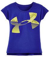 Under Armour Girls 2-6x Logo Printed Crewneck Tee