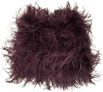 Topshop Tophop Purple Ostrich Skirt for Women
