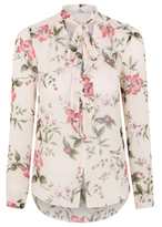 CAT George Floral Lightweight Pussycat Bow Blouse