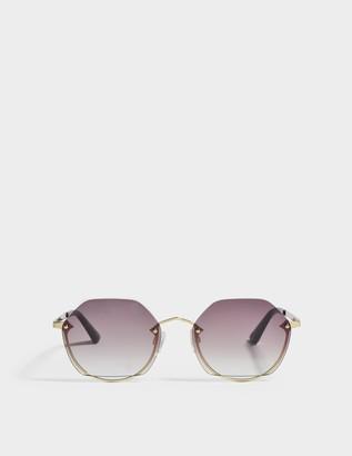 McQ Cat Eye Sunglasses in Gold