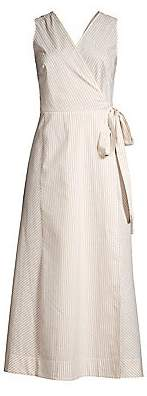 Lafayette 148 New York Women's Siri Sonata Stripe Wrap Dress