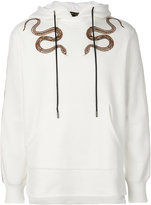 Roberto Cavalli snake print hoodie - men - Cotton/Viscose - L