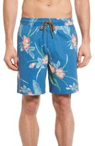 Brixton Men's 'Havana' Print Swim Trunks
