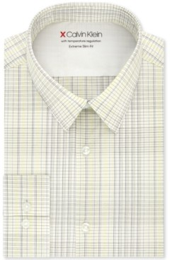 Calvin Klein Men's Extra-Slim Fit Multi-Check Dress Shirt