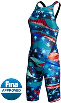 TYR Limited Edition Avictor Omaha Nights Female Open Back Kneeskin Tech Suit 8143649