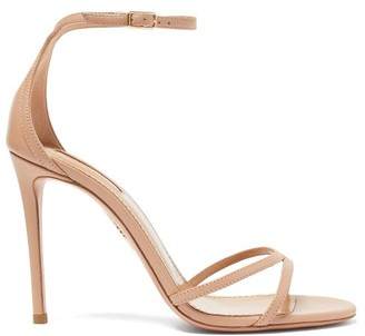 Aquazzura Purist 105 Leather Sandals - Womens - Nude