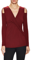 Bailey 44 V-Neck Twisted Front Blouse