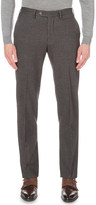 Canali houndstooth brushed-cotton chinos