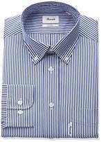 Façonnable Men's Tall Size Classic Fit Stripe Poplin Casual Dress Shirt