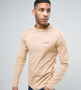 Ellesse Long Sleeve T-Shirt With Small Logo in Slubby Fabric