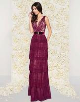 Mac Duggal Couture - 50423D Deep V-Neck Column Gown