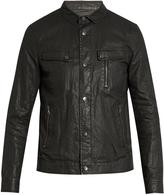 John Varvatos Distressed washed-linen jacket