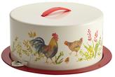 Paula Deen Garden Rooster Cake & Pie Carrier