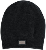 Dolce & Gabbana ribbed hem beanie - men - Calf Leather/Cashmere/zamac - One Size