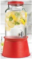 Home Essentials 1.5 Gallon Drink Dispenser w/Red Galvanized Base