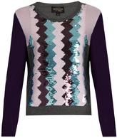 Giambattista Valli Sequin-embellished round-neck cashmere sweater
