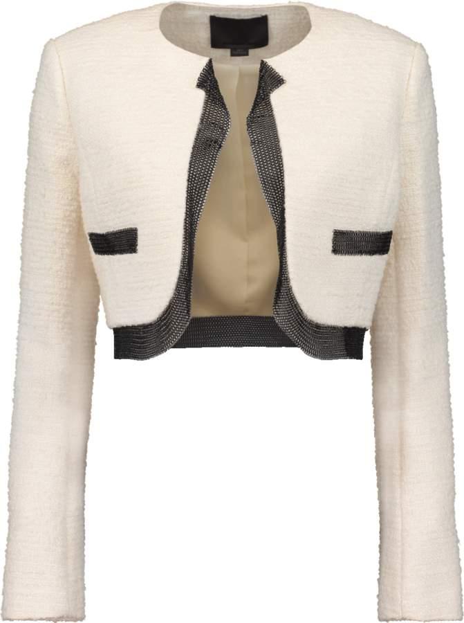 Alexander Wang Cropped Tweed Jacket