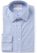 Roundtree & Yorke Gold Label Non-Iron Slim-Fit Spread Collar Check Dress Shirt