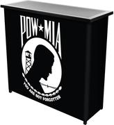 Trademark 2-Shelf 39 in. L x 36 in. H POW Metal Portable Bar with Case