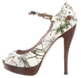 Gucci Floral Mary-Jane Pumps