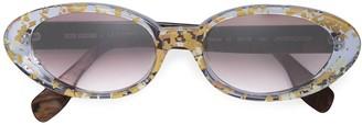 Rosie Assoulin oval sunglasses
