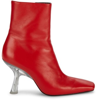 Simon Miller Foxy Square-Toe Leather Ankle Boots