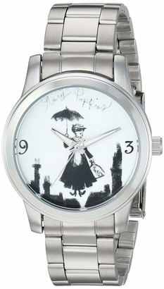 Disney Women's Mary Poppins Analog-Quartz Watch with Stainless-Steel Strap