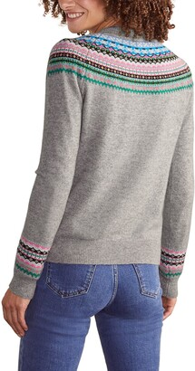 Boden Aberdeen Fair Isle Crewneck Sweater