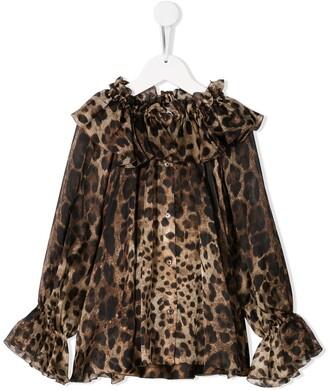 Dolce & Gabbana Kids Ruffle Blouse