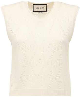 Gucci Wool Knit Sweater Vest