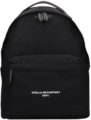 Stella McCartney Falabella Backpack In Black Tech/synthetic