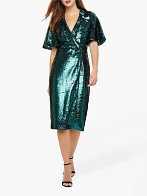 Phase Eight Kyra Sequin Dress, Jade