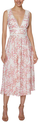 Laundry by Shelli Segal Embroidered Midi Dress