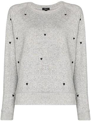 Rails Heart Embroidered Sweatshirt
