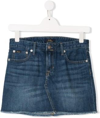 Ralph Lauren Kids TEEN denim mini skirt