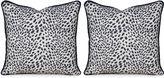Miles Talbott Collection S/2 Leopard Path 20x20 Pillows, Navy