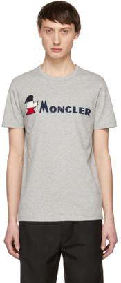 Moncler Grey Maglia Logo T-Shirt