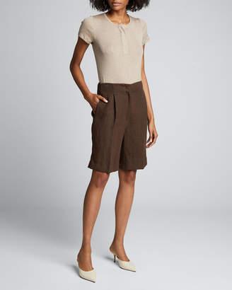 Loulou Studio Egyptian Cotton Henley Bodysuit