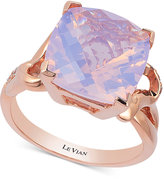 LeVian Le Vian Lavender Quartz (5-9/10 ct. t.w.) and Diamond (1/10 ct. t.w.) Ring in 14k Rose Gold