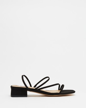Dazie - Women's Black Strappy sandals - Raven Heels - Size 5 at The Iconic