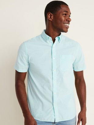 Old Navy Built-In Flex Printed Everyday Short-Sleeve Shirt for Men